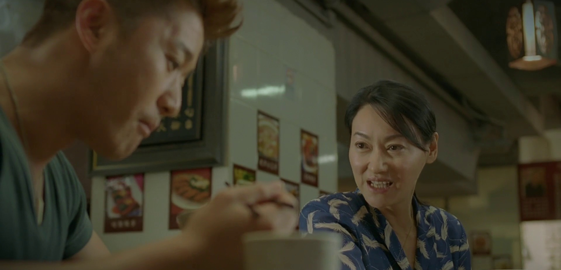 Legendary Kara Hui! In a brief cameo, with a scene of Jacky eating, of course.
