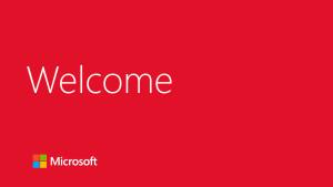 Microsoft Welcome