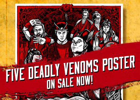 Five Deadly Venoms Poster sale